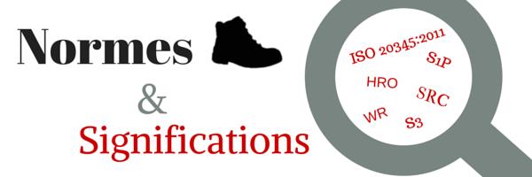 Les normes des chaussures de sécurité et leurs significations