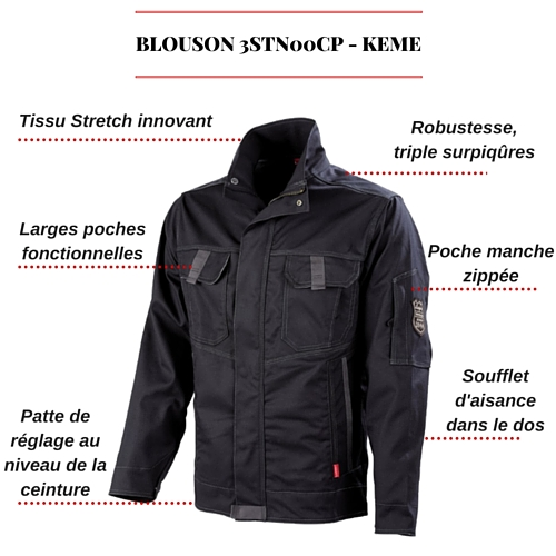 BLOUSON DE TRAVAIL 3STN00CP - KEME
