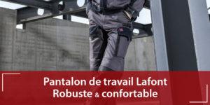 Pantalon de travail Lafont 1att82cp robuste et confortable