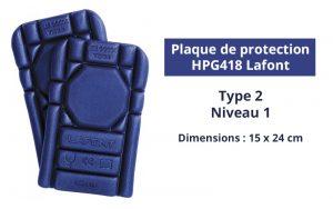 plaque de protection pour genoux - HPG418 Lafont