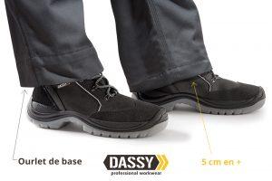 ourlet 5 cm pantalon de travail Dassy