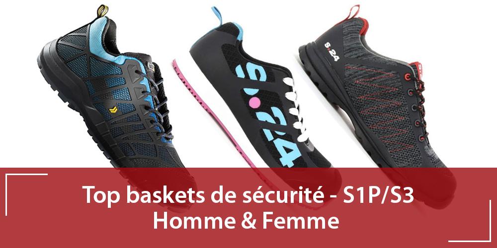 Meilleures baskets de sécurité Homme & Femme – S1P/S3
