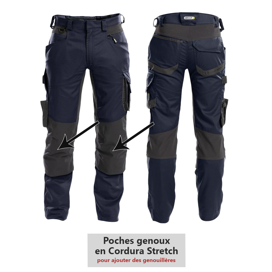 Pantalon de travail DASSY DYNAX collection D-FLEX