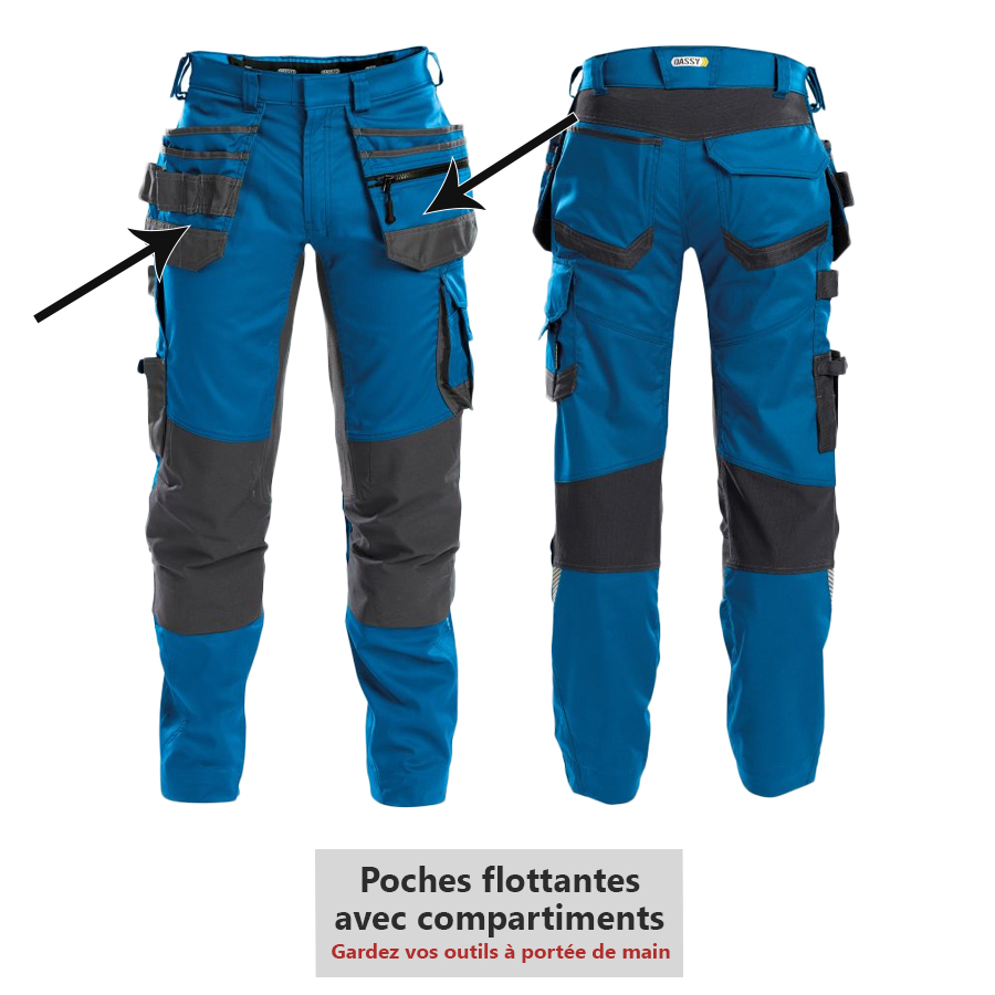Pantalon de travail DASSY FLUX collection D-FLEX