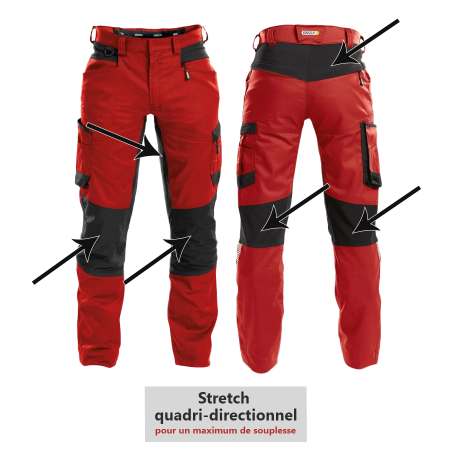 Pantalon de travail DASSY HELIX collection D-FLEX