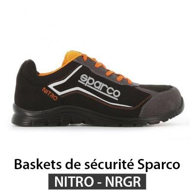Basket securite Sparco NITRO noir gris