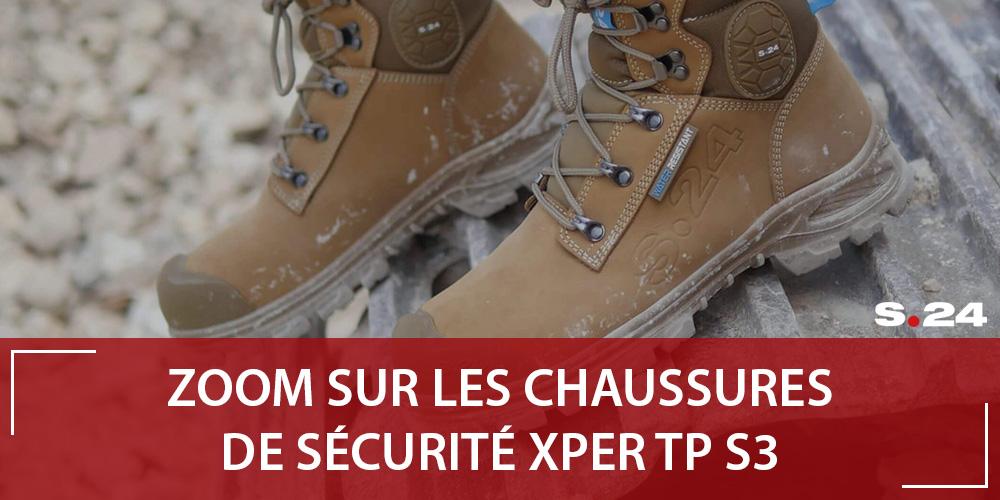 Chaussure de sécurité XPER TP S.24 : idéale sur les chantiers