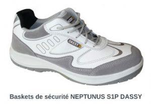 Chaussures de sécurité baskets blanches DASSY Neptunus