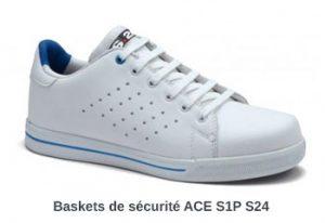 Baskets de sécurité blanches pour peintre ACE S1P S24