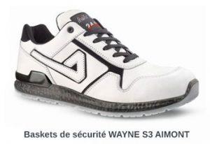 Baskets de sécurité blanches WAYNE AIMONT