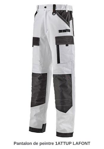 Pantalon de travail peintre Lafont 1ATTUP Blanc