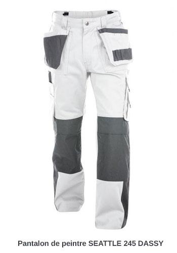 Pantalon de peintre Seattle Dassy Blanc