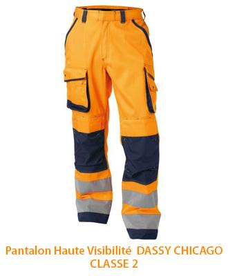 Pantalon professionnel de signalisation Dassy Chicago Classe 2