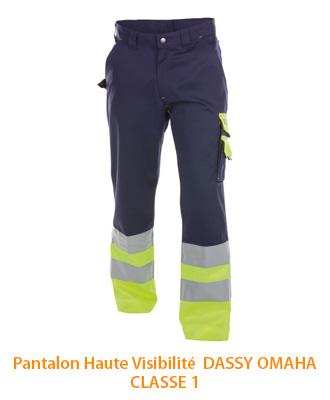 Pantalon Haute Visibilité Classe 1 Dassy Omaha