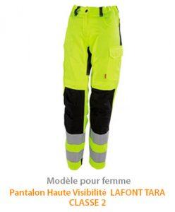 EPI Haute Visibilité Pantalon Femme Tara Lafont Classe 2
