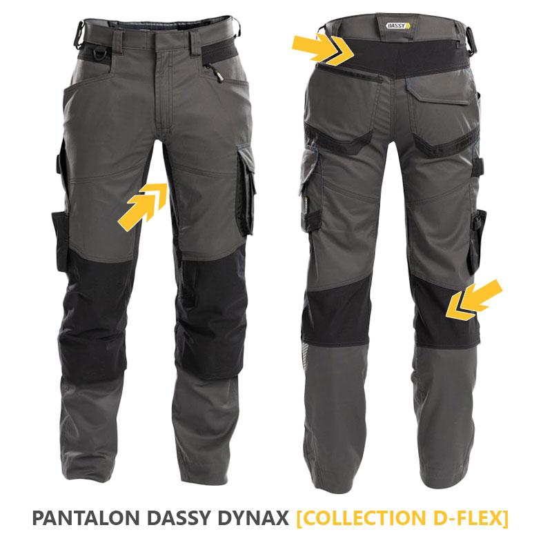 Pantalon professionnel Dassy Dynax Gris