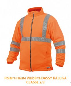 Polaire EPI haute visibilité Dassy Kaluga