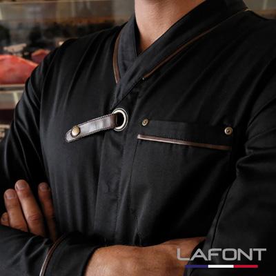 Veste cuisine homme Navarre Lafont Noir