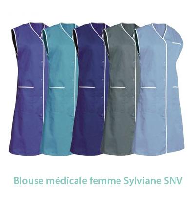 Blouse médicale sans manches SNV Sylviane