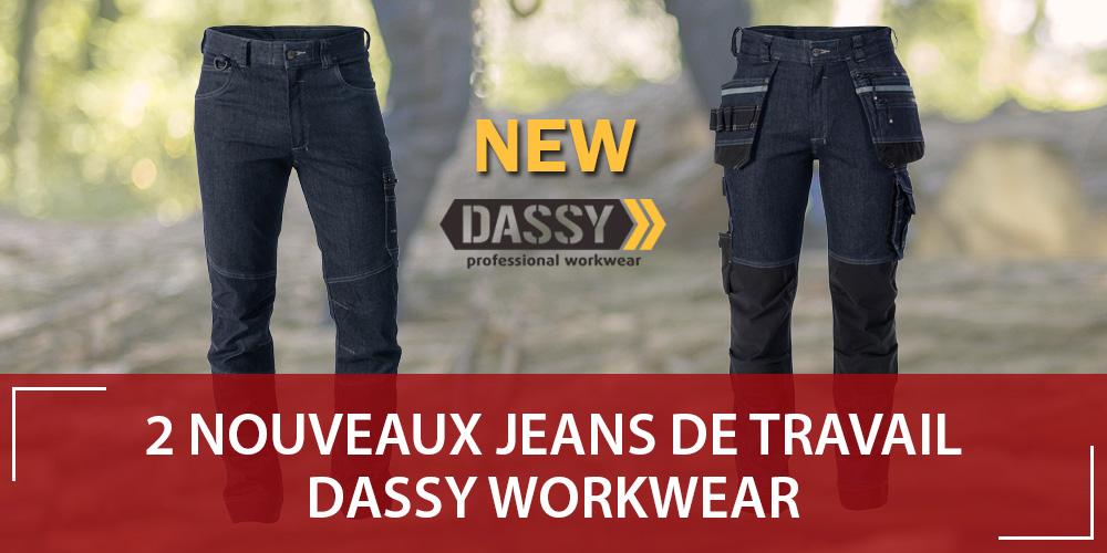 Nouveaux jeans de travail stretch Dassy : MELBOURNE et OSAKA