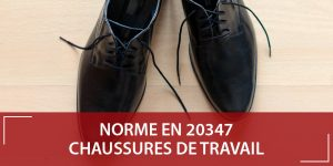 Chaussure de travail norme EN 20347