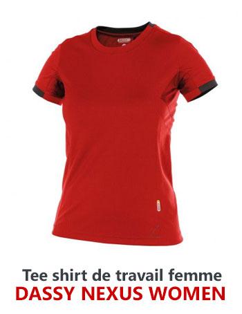 Tee shirt de travail femme Dassy Nexus