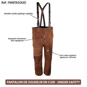 Pantalon soudeur cuir Singer PANTASOUD