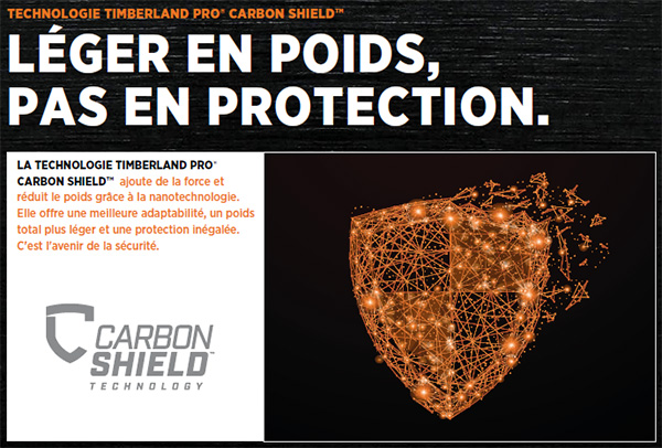 Technologie Carbon Shield Timberland Pro