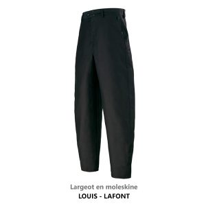 Pantalon largeot en moleskine Lafont LOUIS