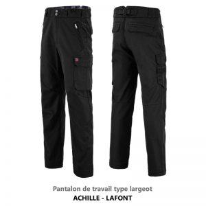 Pantalon largeot noir Achille Lafont