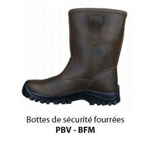 Bottes de sécurité fourrées PBV BFM