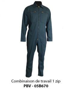 Combinaison professionnelle agricole 1 zip PBV 05B670