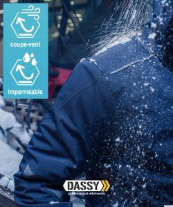 Veste de travail hiver imperméable Dassy Nordix