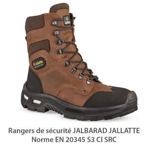 Chaussures de sécurité rangers JALLATTE JALBARAD