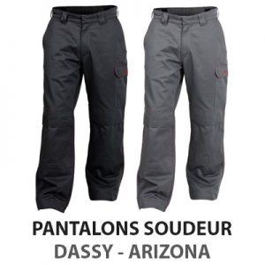 Pantalon bleu de travail ignifugé Dassy Arizona