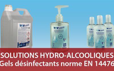 Solutions hydro alcooliques PBV : des gels fabriqués en France
