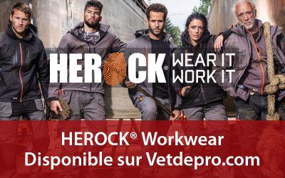 Les vêtements de travail HEROCK sont en vente sur Vetdepro.com