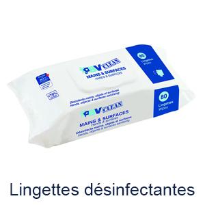 Lingettes desinfectantes pbv