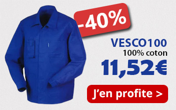 Profitez de -40% sur la veste de travail VESCO100 !