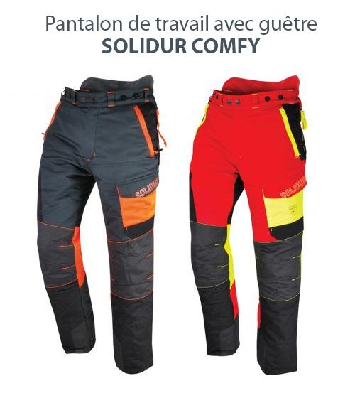 Pantalon de travail avec guêtre Solidur COMFY