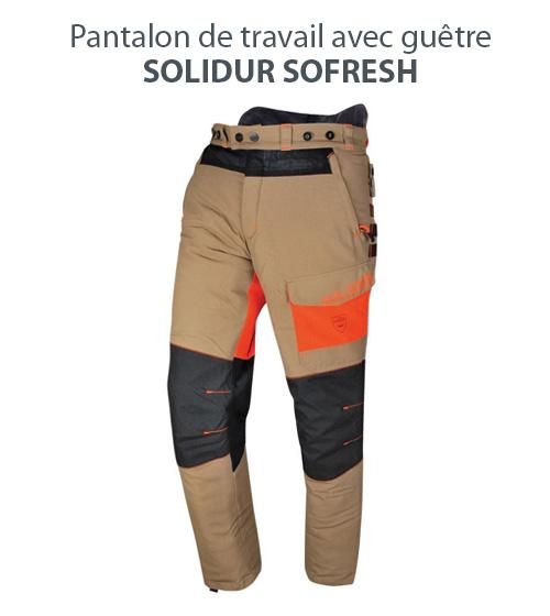 Pantalon de travail avec guêtre Solidur Sofresh
