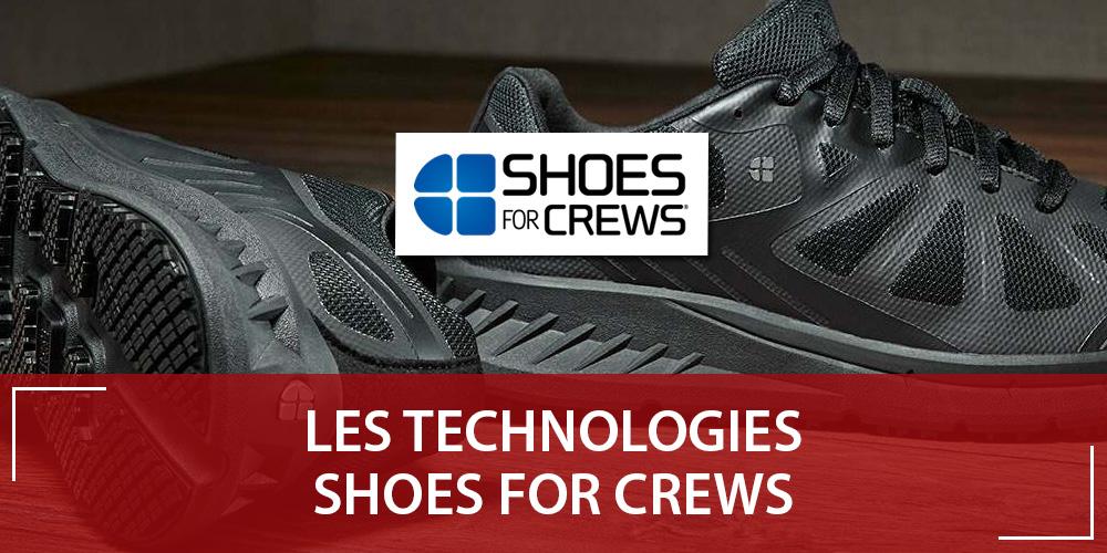 Les technologies Shoes For Crews : adhérence et sécurité